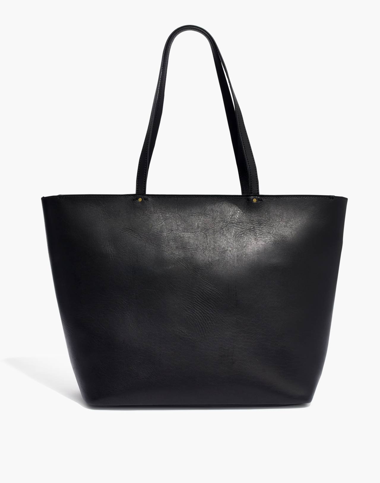 The Abroad Tote Bag in true black image 1