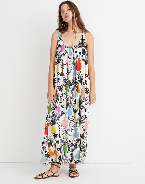 Whit® Ann Maxi Dress In Potted Plant Print by Madewell