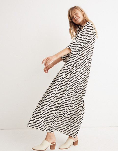 WHIT® Lillian Maxi Dress in Mark Print on Plaid in black multi image 2