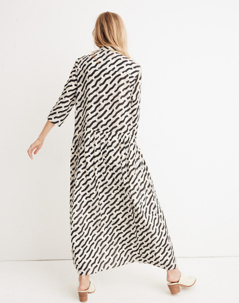 WHIT® Lillian Maxi Dress in Mark Print on Plaid in black multi image 3