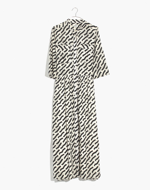 WHIT® Lillian Maxi Dress in Mark Print on Plaid in black multi image 4