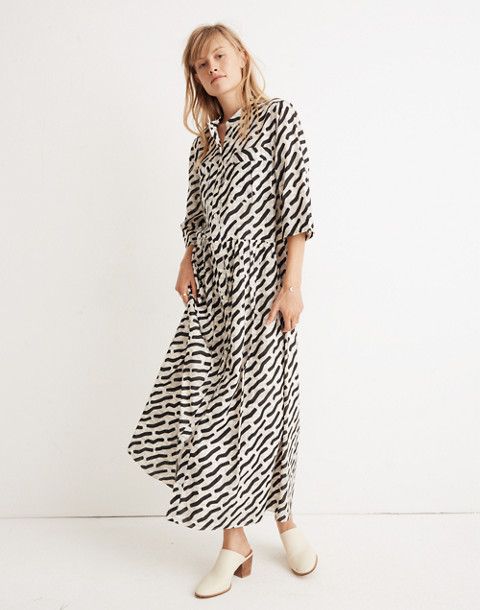 WHIT® Lillian Maxi Dress in Mark Print on Plaid in black multi image 1