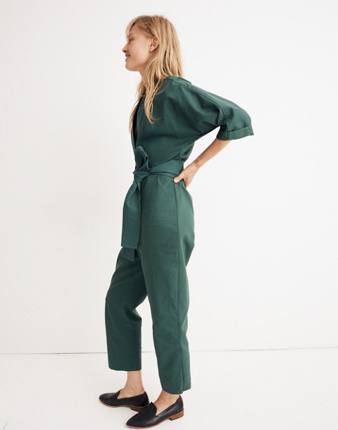 WHIT® Penny Jumpsuit in Moss in dark green image 2