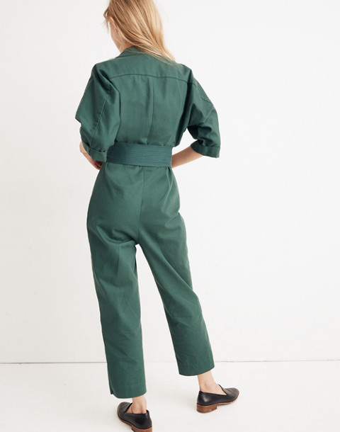 WHIT® Penny Jumpsuit in Moss in dark green image 3