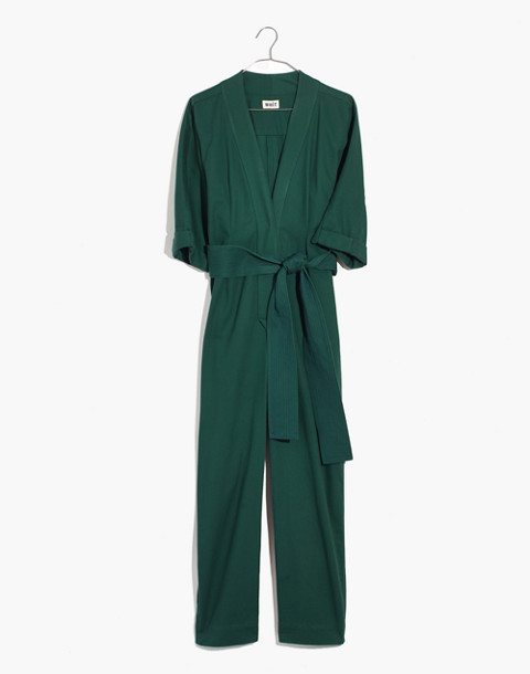 WHIT® Penny Jumpsuit in Moss in dark green image 4