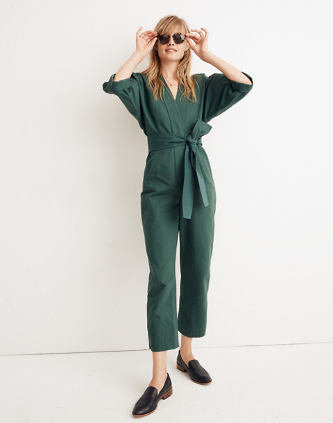 WHIT® Penny Jumpsuit in Moss in dark green image 1