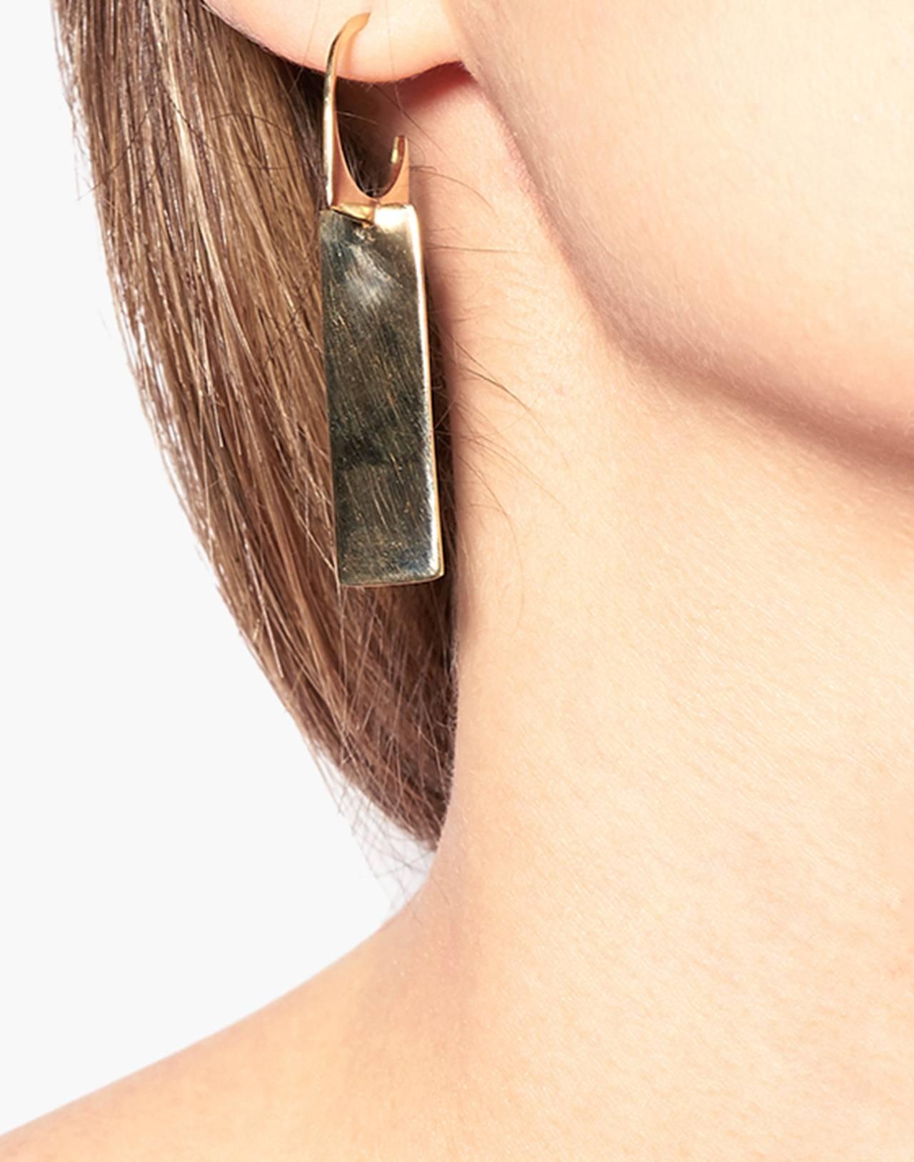Odette New York® Cadre Earrings in gold image 2