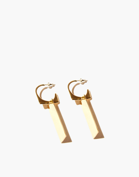 Odette New York® Cadre Earrings in gold image 1