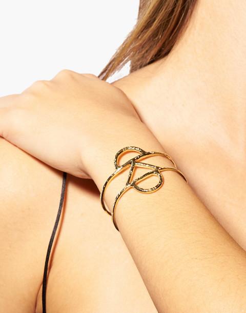 Odette New York® Crescent Cuff Bracelet in gold image 2