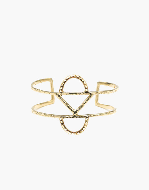 Odette New York® Crescent Cuff Bracelet in gold image 1