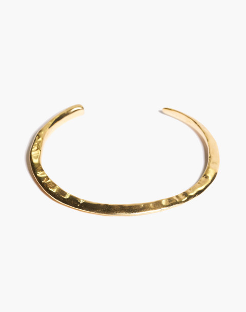 Odette New York® Slope Cuff Bracelet in gold image 1