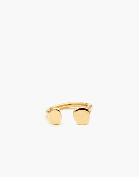 Odette New York® Tilt Open Ring in gold image 1