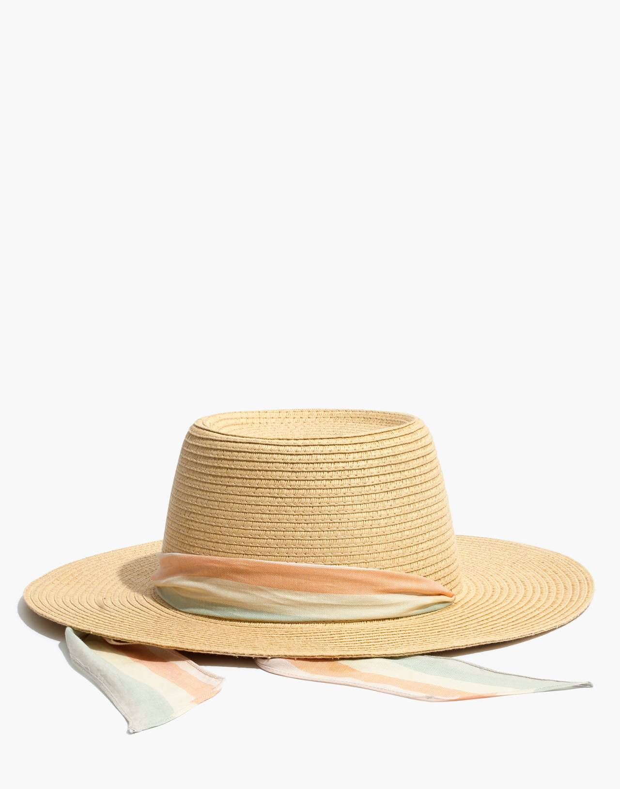 Stampede-Strap Straw Boater Hat in natural straw image 1