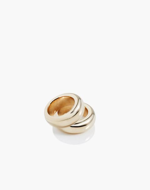 Charlotte Cauwe Studio Brass Donut Ring Set in gold image 1