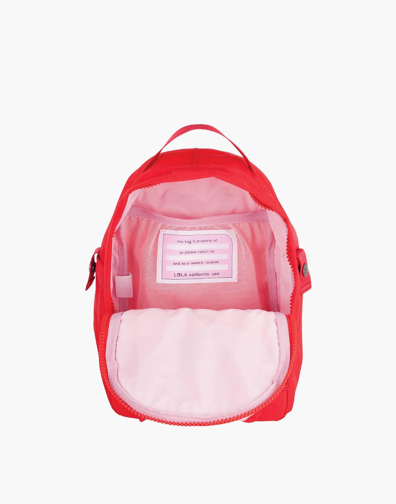 LOLA™ Mondo Utopian Small Backpack in red image 2