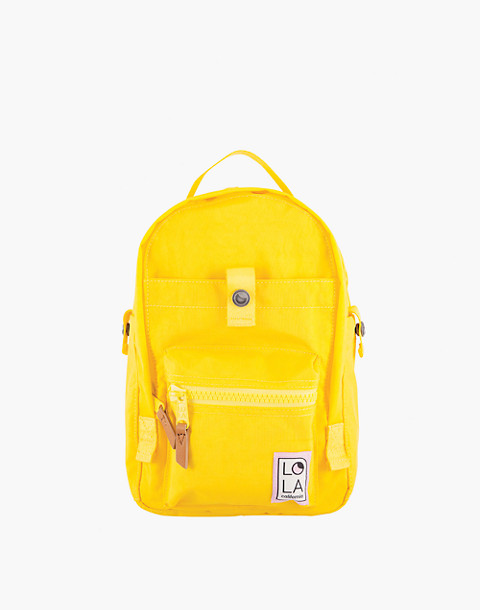LOLA™ Mondo Utopian Small Backpack in yellow image 1