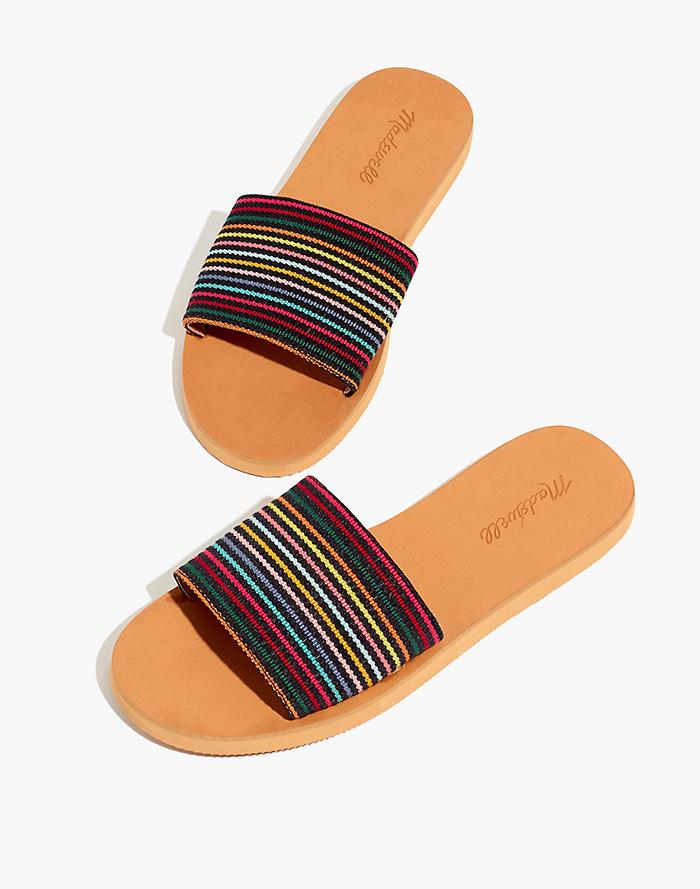 0bc88886020c The Maddie Slide Sandal in Rainbow Stripe