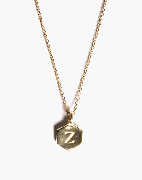 Odette New York® Hex Monogram Necklace in black image 1