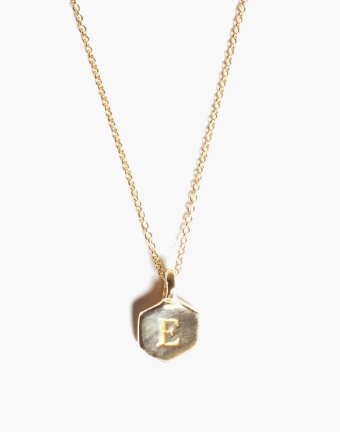 Odette New York® Hex Monogram Necklace in green image 1