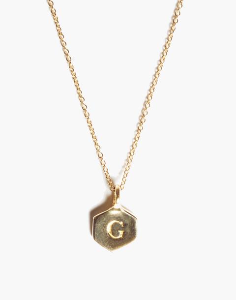 Odette New York® Hex Monogram Necklace in purple image 1