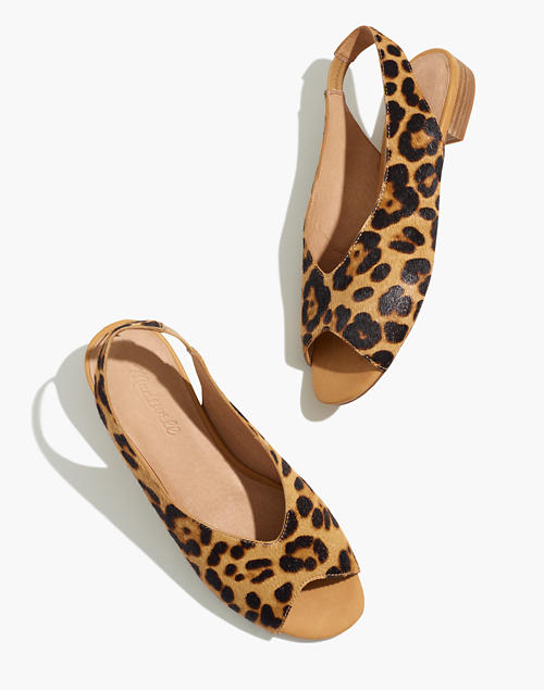The Tavi Slingback Sandal In Leopard Calf Hair by Madewell