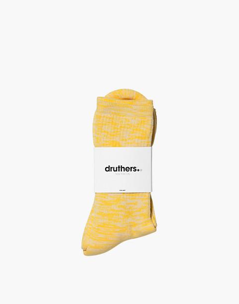Druthers™ Organic Cotton Everyday Melange Crew Socks in yellow image 2