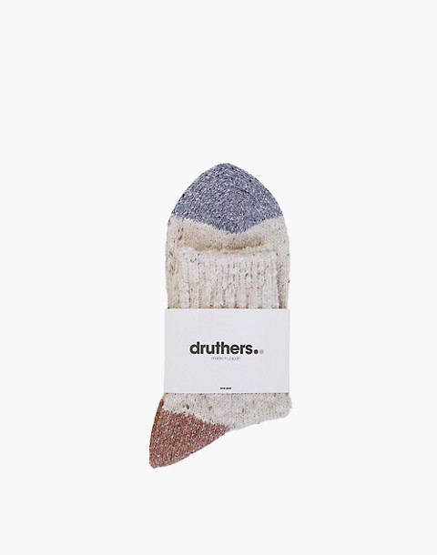 Druthers™ Quarter-Length Recycled Cotton Socks in natural image 2