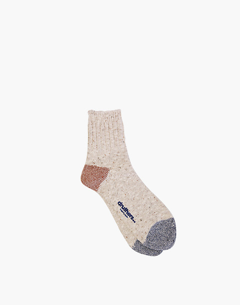 Druthers™ Quarter-Length Recycled Cotton Socks in natural image 1