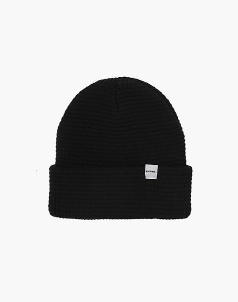 Druthers™ Organic Cotton Waffle Knit Beanie in black image 1
