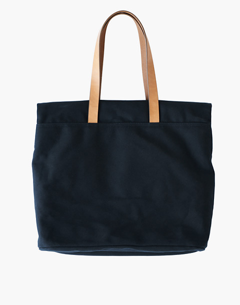 MAKR Canvas and Leather Fold Weekender Bag in black image 2