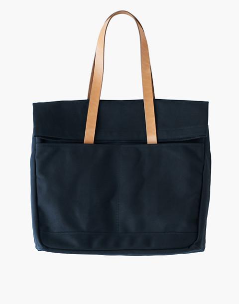 MAKR Canvas and Leather Fold Weekender Bag in black image 1