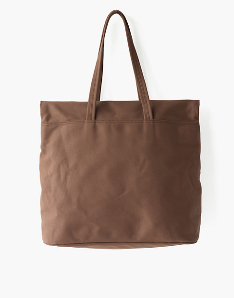 MAKR Canvas and Leather Fold Weekender Bag in brown image 2