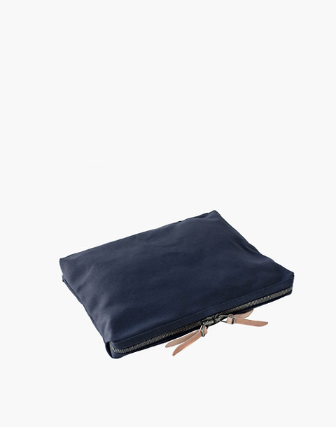 MAKR Large Canvas Organizer Pouch in navy image 2