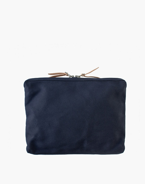 MAKR Large Canvas Organizer Pouch in navy image 1