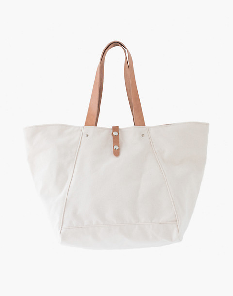 MAKR Canvas Farm Tote Bag in white image 1