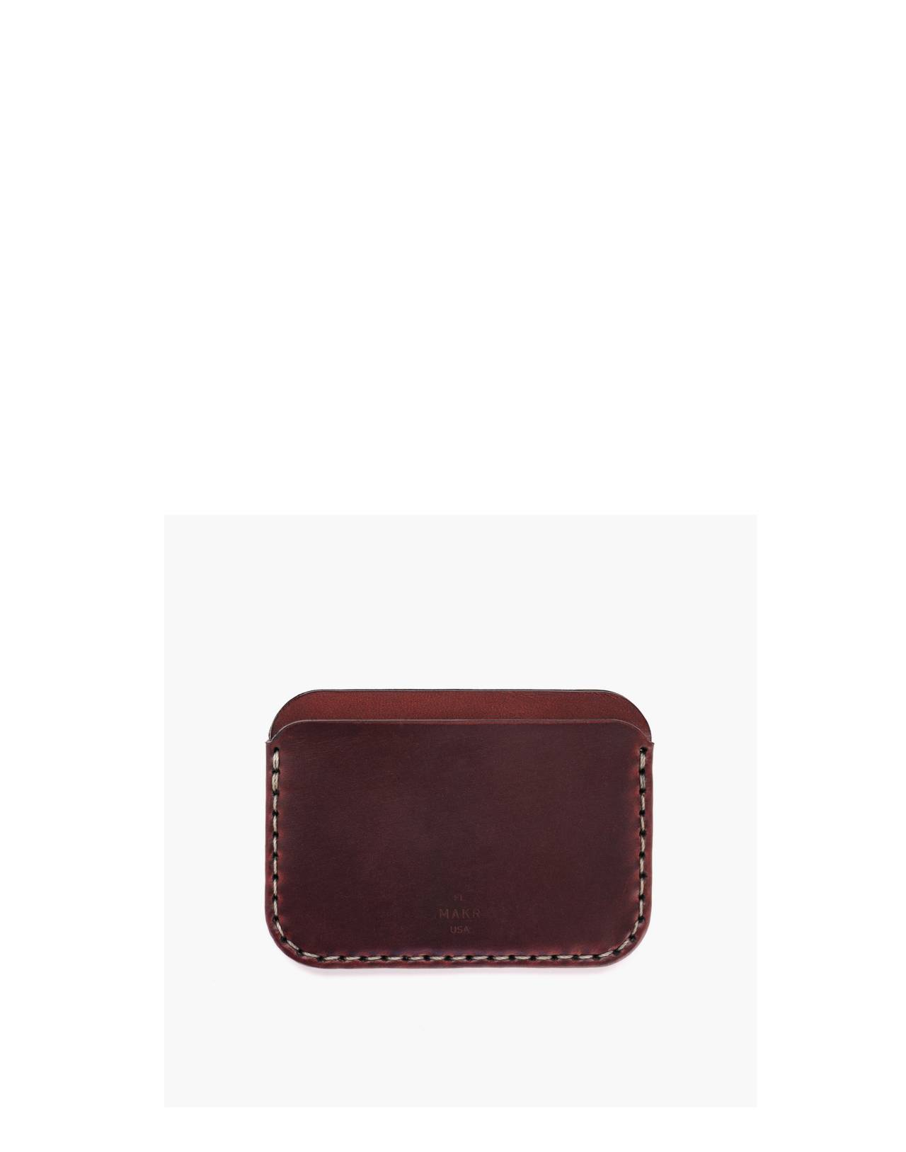 MAKR Leather Round Wallet in red image 2