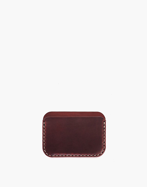 MAKR Leather Round Wallet in red image 1