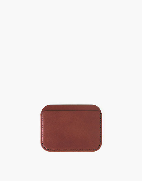 MAKR Leather Round Luxe Wallet in red image 1
