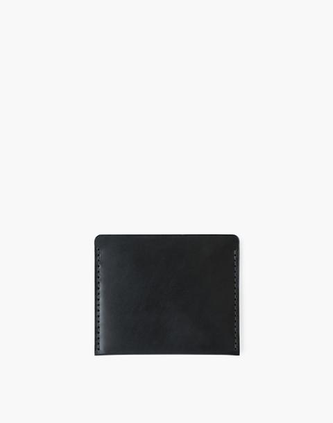 MAKR Leather Cascade Wallet in black image 2