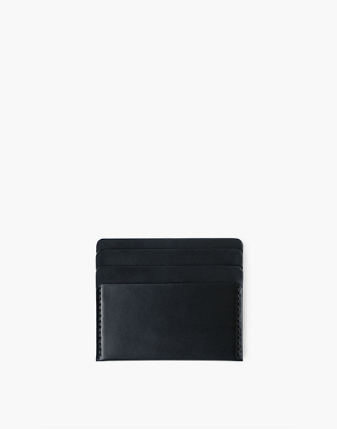 MAKR Leather Cascade Wallet in black image 1