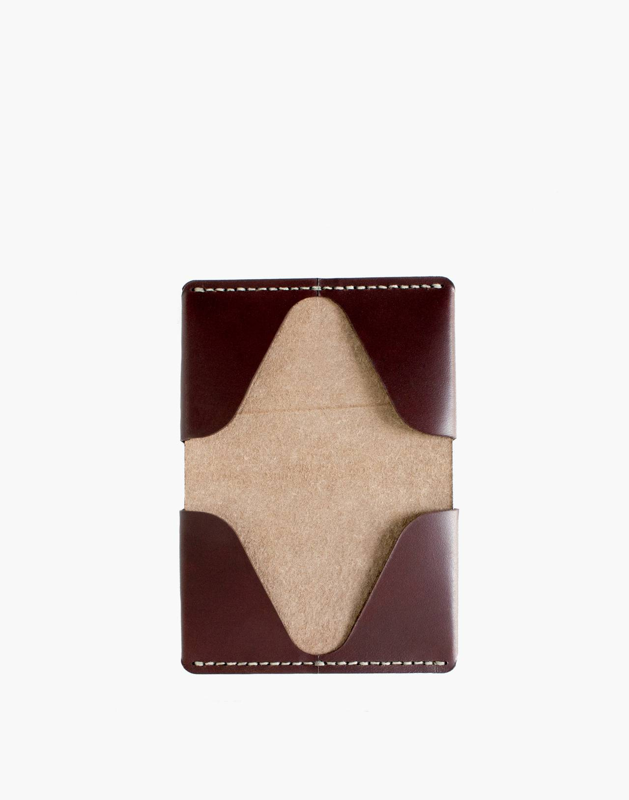 MAKR Leather Horizon Four Wallet in red image 2