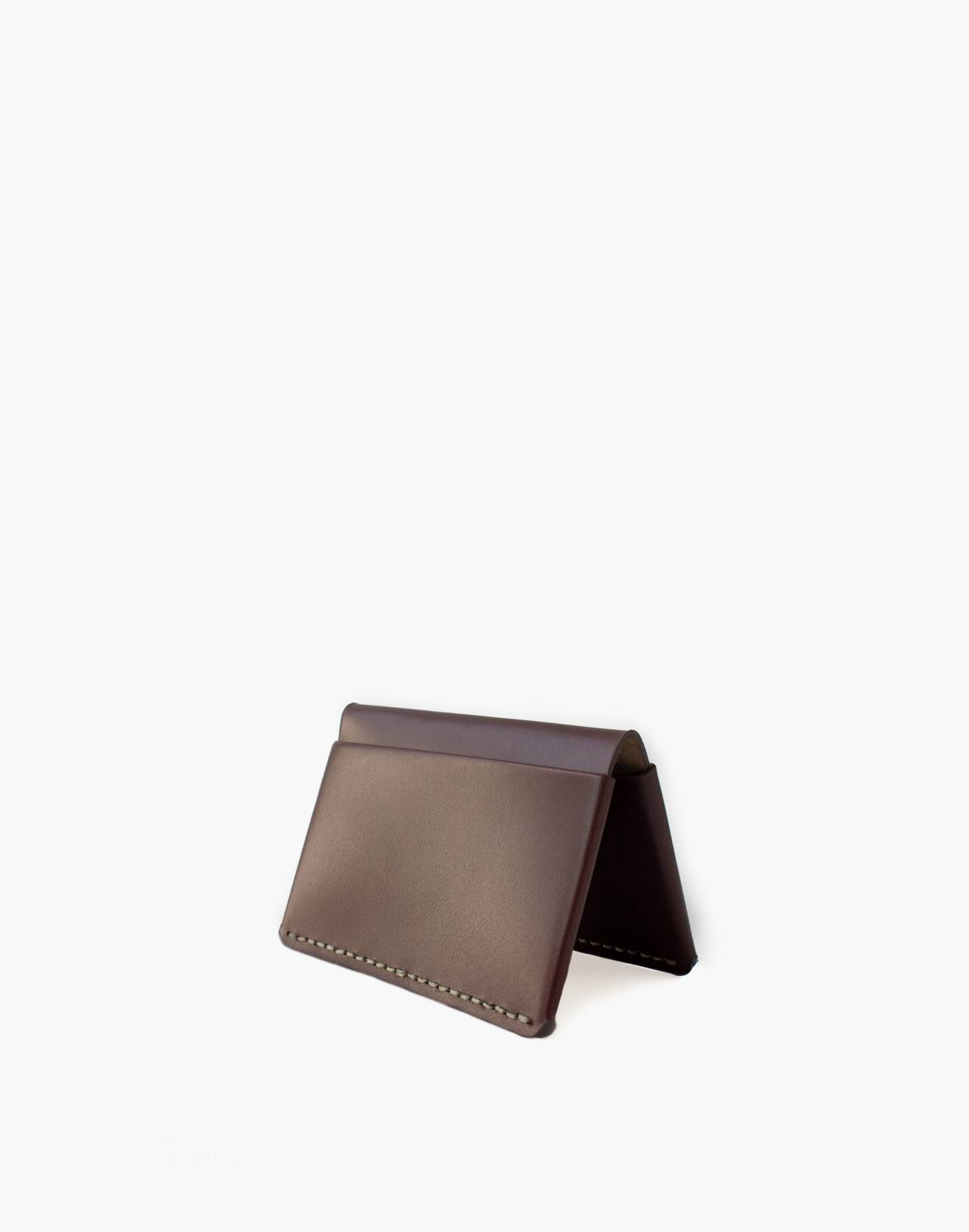 MAKR Leather Horizon Four Wallet in red image 1