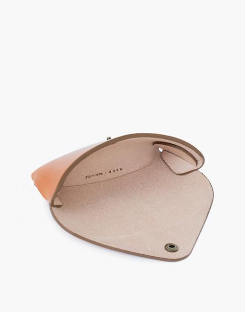 MAKR Leather Tab Eyewear Case in natural image 2