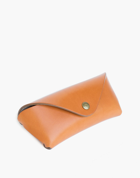 MAKR Leather Tab Eyewear Case in natural image 1