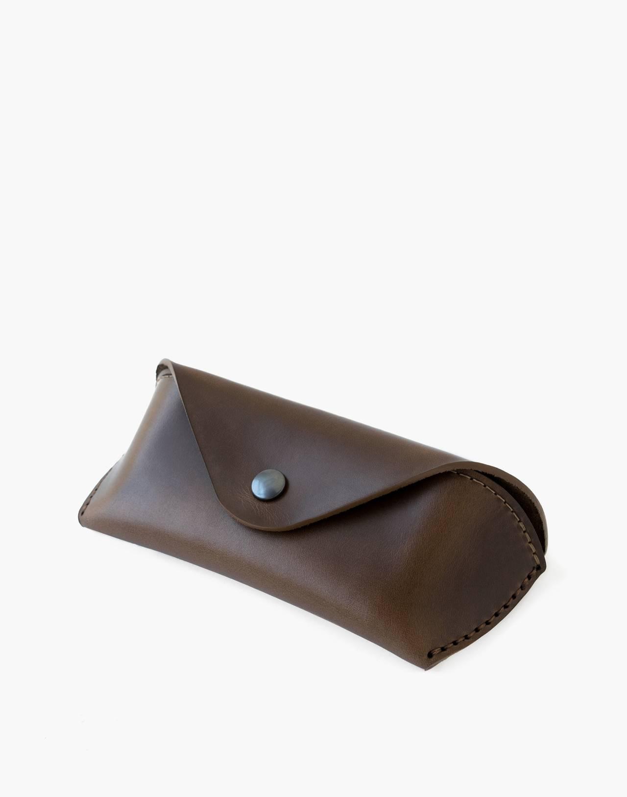MAKR Leather Eyewear Sleeve in brown image 1