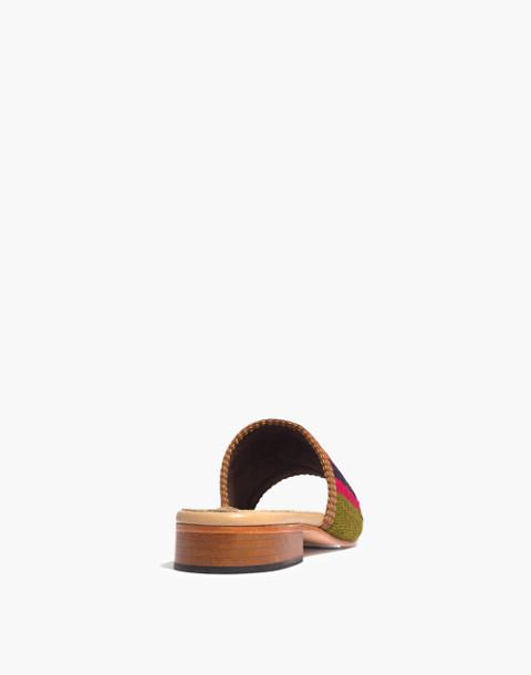 Artemis Design Co. Kilim Sandals in orange/green multi stripe image 3