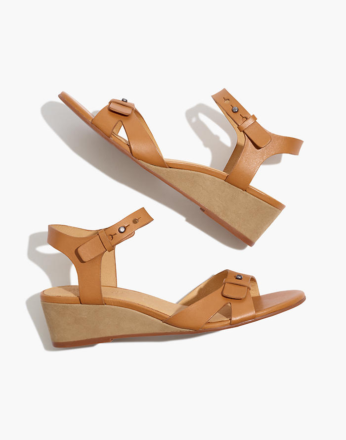 Women's Shoes Madewell Womens Size 6 Cream And Gold Leather Sandals 6
