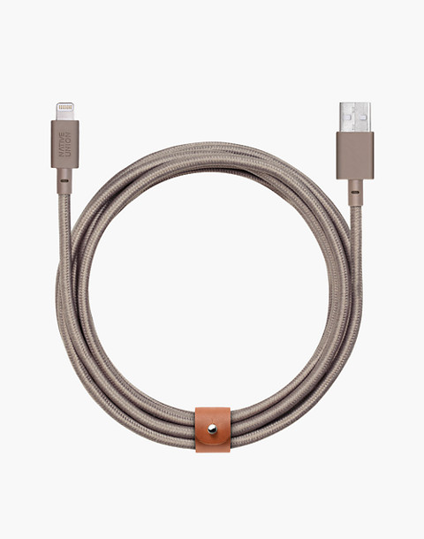 "NATIVE UNION™ 120"" XL Belt Charging Cable in natural image 1"