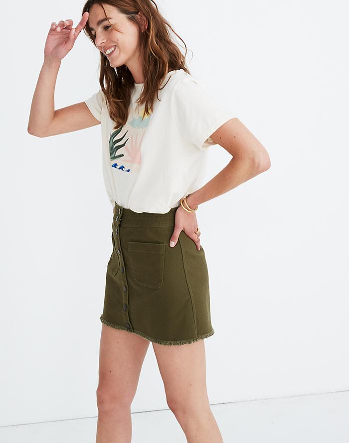 e10196870f New. Raw-Hem A-Line Mini Skirt ...