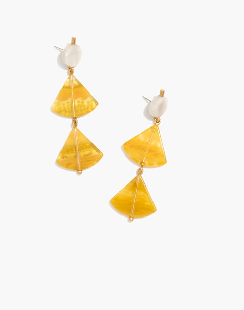 Resin Triangle Drop Earrings by Madewell